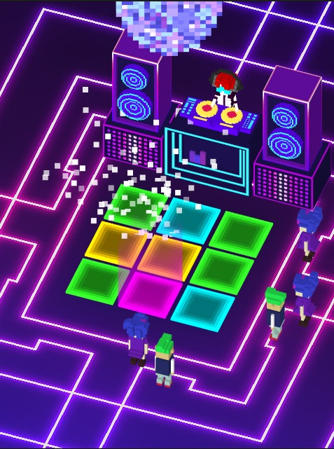 disco dave mobile game screenshot