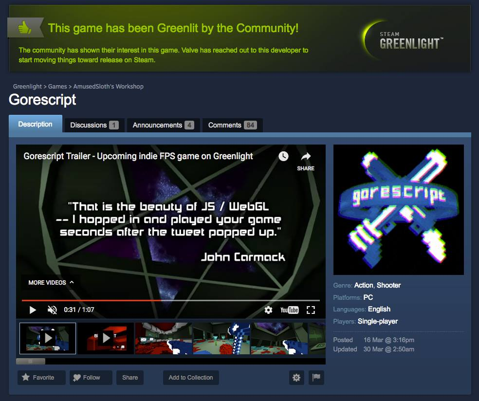 Capture - Greenlight Gorescript